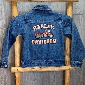 Harley Davidson Boys Jean Logo Jacket 8/10